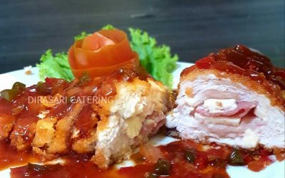 Chicken Cordon Bleu Saos BBQ